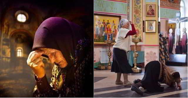 Грешница баба Надя в кои-то веки зашла в церковь, думала душу облегчить, а вышло наоборот - отругал ее священник...