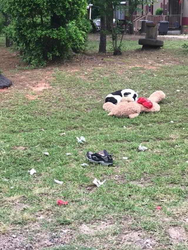 Уличный пёс обнимал плюшевого мишку… Он не двигался — и волонтер поняла, что опоздала!