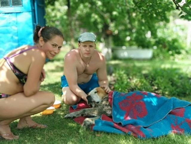 Старого алабая спасли в Украине из болота и выводили из депрeссии всем приютом