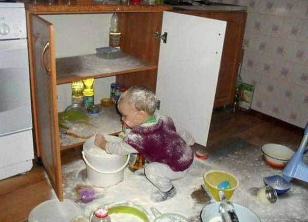 15 Веселых Фото о том, чем заканчиваются 5 минут тишины в доме с маленькими детьми