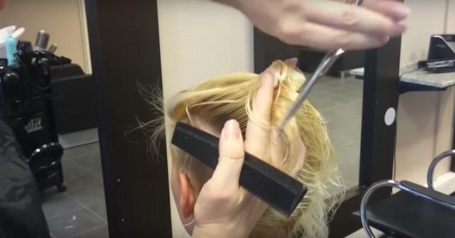 11 000 000 просмотров! Мастер сбрил клиентке почти все волосы и полностью преобразил ее
